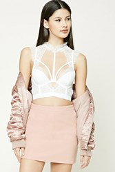 Forever 21 Faux Leather Mini Skirt Pink