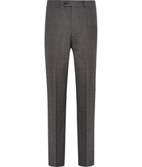 Austin Reed Regular Fit Check Trousers Charcoal