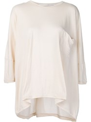Isabel Benenato Oversized T Shirt Nude And Neutrals