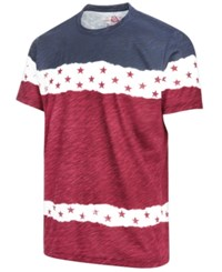 American Rag Men's Americana Colorblocked T Shirt Created For Macy's Basic Navy Red