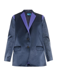 Kolor Contrast Lapel Satin Jacket