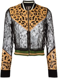 Aviu Leopard Pattern Zipped Cardigan Black