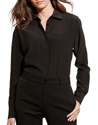 Lauren Ralph Lauren Long Sleeve Silk Shirt Black