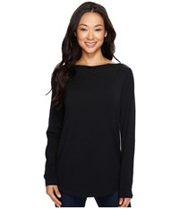 Nau Long Sleeve Astir Cowl Neck Top Caviar Women's Long Sleeve Pullover Black