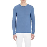 Barneys New York Men's Layered Look Cashmere Sweater Light Blue