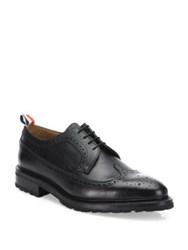 Thom Browne Classic Brogue Leather Dress Shoes Black