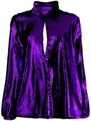 Racil Sequin Embroidery Top Purple