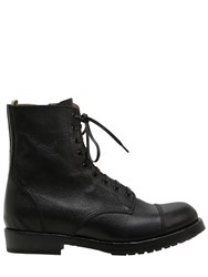 Officine Creative Lace Up Leather Boots With Side Zip