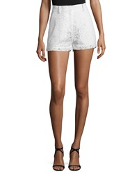 Mcq By Alexander Mcqueen Lace High Rise Shorts Ivory