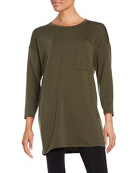 Eileen Fisher Petite Solid Pullover Tunic Surplus