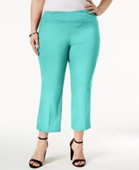 Jm Collection Plus Size Pull On Cropped Pants Only At Macy's Pacific Aqua