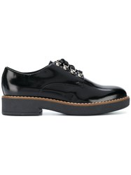 Geox Varnished Lace Up Shoes Black