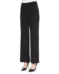Eileen Fisher Eco Tropical Suiting Wide Leg Trousers Petite