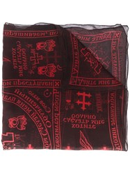 Ktz Archive Church Print Scarf Black