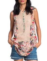 Plenty By Tracy Reese Hi Lo Tunic Shirt Calico Flowers