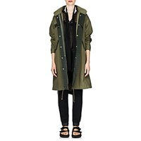 Sacai Canvas Oversized Fishtail Parka Dk. Green