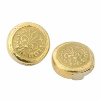 Torrini Fiorino Fleur De Lis 18K Yellow Gold Button Covers