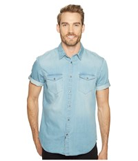 Calvin Klein Jeans Short Sleeve Denim Shirt Mid Bleu Wash Men's Short Sleeve Button Up Blue