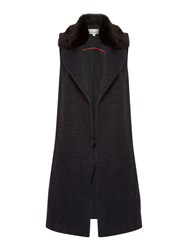 Linea Faux Fur Collar Waistcoat Multi Coloured