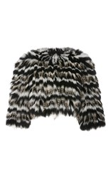 Elie Saab Racoon And Fox Fur Vest Black White