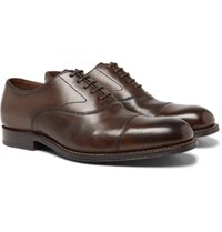 Grenson Lucas Cap Toe Leather Oxford Shoes Brown