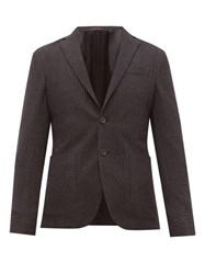 The Gigi Single Breasted Cotton Blend Blazer Charcoal