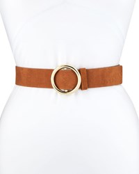 Frame O Ring Suede Belt Brown