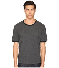 Atm Anthony Thomas Melillo Layered Sleeve Crew Tee Gray Black