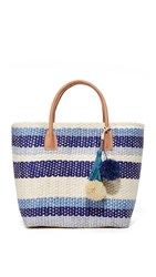 Hat Attack Small Provence Tote Blue Stripe