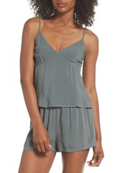 Lacausa Poppy Short And Camisole Pajamas Sage