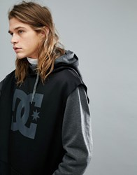 Dc Shoes Snow Dryden Hoodie With Double Layered Body In Grey Grey