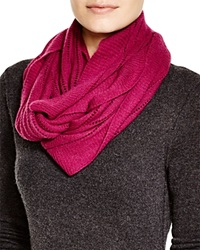 C By Bloomingdale's Open Knit Cashmere Scarf Mulberry