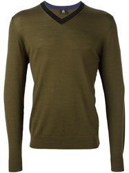 Paul Smith Ps By V Neck Jumper Green