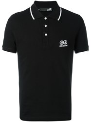 Love Moschino Contrast Trimming Polo Shirt Black
