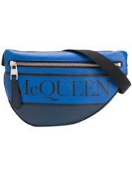 Alexander Mcqueen Logo Belt Bag Blue
