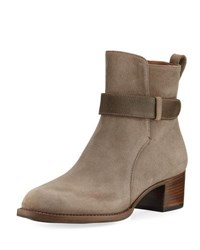 Gravati Suede Bootie With Accent Strap Green