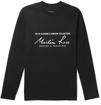 Martine Rose Logo Print Cotton Jersey T Shirt Black