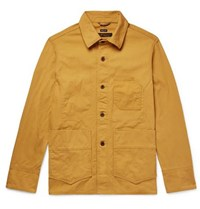 Freemans Sporting Club Washed Cotton Canvas Jacket Mustard