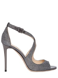 Jimmy Choo 100Mm Emily Glitter Fabric Sandals