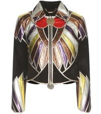 Givenchy Leather And Suede Jacket Multicoloured