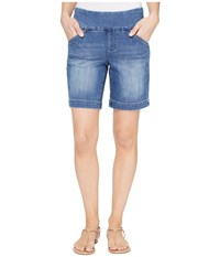 Jag Jeans Ainsley Pull On 8 Shorts Comfort Denim In Weathered Blue Weathered Blue Women's Shorts Navy