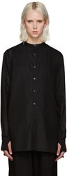 Y 3 Black Button Shirt