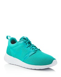 Nike Roshe One Hyperfuse Lace Up Sneakers Jade Green White