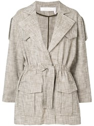 See By Chloe Tied Jacket Nude And Neutrals