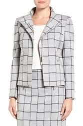 Halogen Windowpane Check Stretch Suit Jacket Regular And Petite Gray