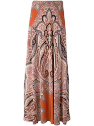 Etro Paisley Maxi Skirt Women Silk 44