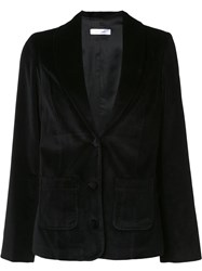 Anine Bing Velour Blazer Black