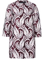 Giambattista Valli Abstract Jacquard Pattern Jacket Pink And Purple