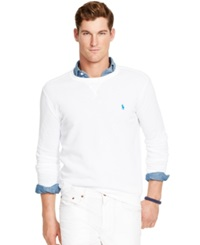 Polo Ralph Lauren Terry Crew Neck Pullover White