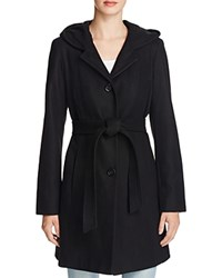 Anne Klein Hooded Wool Blend Wrap Coat Compare At 260 Black